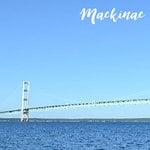Scrapbook Customs - 12 x 12 Paper - Mackinac Island Bridge - Left Watercolor