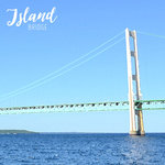 Scrapbook Customs - 12 x 12 Paper - Mackinac Island Bridge - Right Watercolor