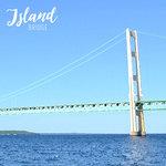 Scrapbook Customs - 12 x 12 Paper - Mackinac Island Bridge - Right Watercolor