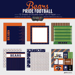 Scrapbook Customs - Football Collection - 12 x 12 Collection Kit - Bears Pride