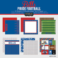 Scrapbook Customs - Football Collection - 12 x 12 Collection Kit - Bills Pride