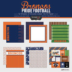 Scrapbook Customs - Football Collection - 12 x 12 Collection Kit - Broncos Pride