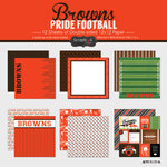 Scrapbook Customs - Football Collection - 12 x 12 Collection Kit - Browns Pride