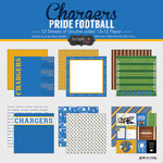 Scrapbook Customs - Football Collection - 12 x 12 Collection Kit - Chargers Pride