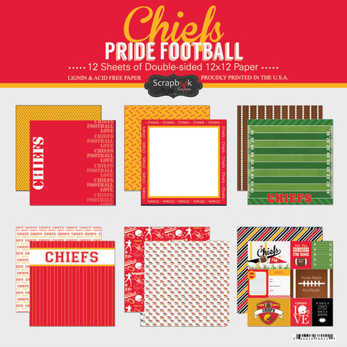 Scrapbook Customs - Football Collection - 12 x 12 Collection Kit - Chiefs Pride