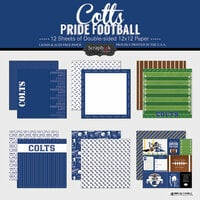 Scrapbook Customs - Football Collection - 12 x 12 Collection Kit - Colts Pride