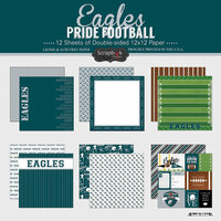 Scrapbook Customs - Football Collection - 12 x 12 Collection Kit - Eagles Pride