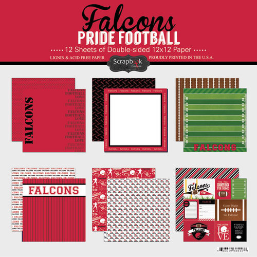 Scrapbook Customs - Football Collection - 12 x 12 Collection Kit - Falcons Pride