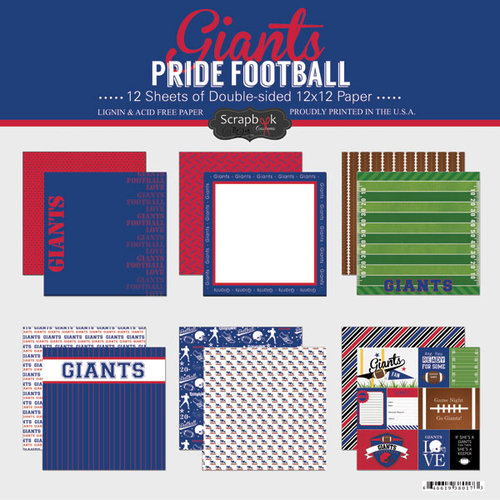 Scrapbook Customs - Football Collection - 12 x 12 Collection Kit - Giants Pride