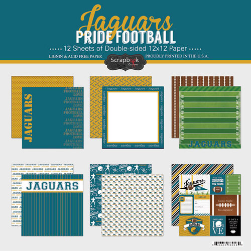 Scrapbook Customs - Football Collection - 12 x 12 Collection Kit - Jaguars Pride