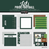 Scrapbook Customs - Football Collection - 12 x 12 Collection Kit - Jets Pride