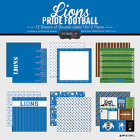 Scrapbook Customs - Football Collection - 12 x 12 Collection Kit - Lions Pride