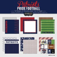 Scrapbook Customs - Football Collection - 12 x 12 Collection Kit - Patriots Pride