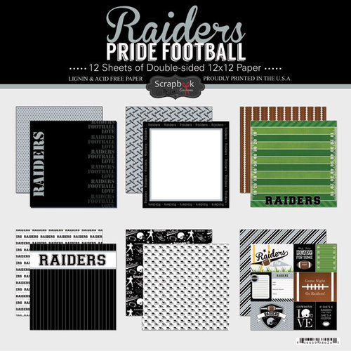 Scrapbook Customs - Football Collection - 12 x 12 Collection Kit - Raiders Pride