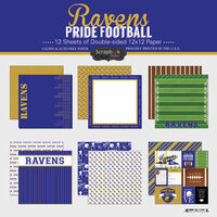 Scrapbook Customs - Football Collection - 12 x 12 Collection Kit - Ravens Pride