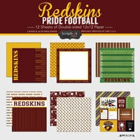 Scrapbook Customs - Football Collection - 12 x 12 Collection Kit - Redskins Pride