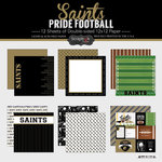 Scrapbook Customs - Football Collection - 12 x 12 Collection Kit - Saints Pride