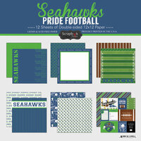 Scrapbook Customs - Football Collection - 12 x 12 Collection Kit - Seahawks Pride