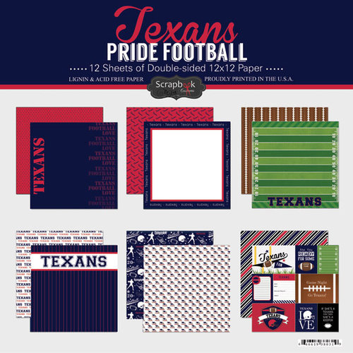 Scrapbook Customs - Football Collection - 12 x 12 Collection Kit - Texans Pride