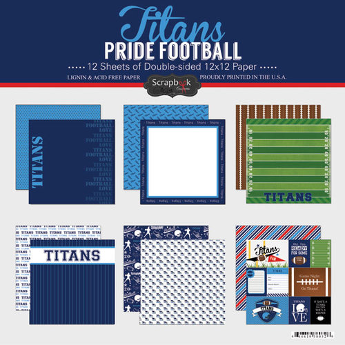 Scrapbook Customs - Football Collection - 12 x 12 Collection Kit - Titans Pride