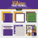Scrapbook Customs - Football Collection - 12 x 12 Collection Kit - Vikings Pride