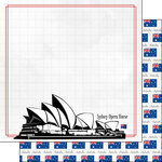 Scrapbook Customs - Adventure Collection - 12 x 12 Double Sided Paper - Sydney Opera House