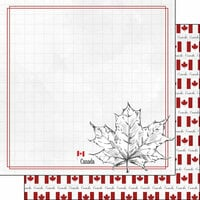 Scrapbook Customs - Adventure Collection - 12 x 12 Double Sided Paper - Canada Maple Leaf