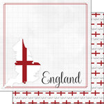 Scrapbook Customs - Adventure Collection - 12 x 12 Double Sided Paper - England Border