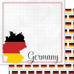 Scrapbook Customs - Adventure Collection - 12 x 12 Double Sided Paper - Germany Border