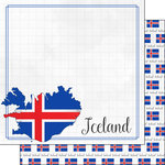 Scrapbook Customs - Adventure Collection - 12 x 12 Double Sided Paper - Iceland Border