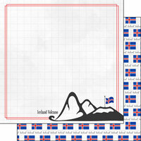 Scrapbook Customs - Adventure Collection - 12 x 12 Double Sided Paper - Iceland Volcano