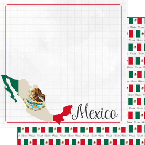 Scrapbook Customs - Adventure Collection - 12 x 12 Double Sided Paper - Mexico Border