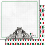 Scrapbook Customs - Adventure Collection - 12 x 12 Double Sided Paper - Mexico Chichen Itza
