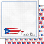 Scrapbook Customs - Adventure Collection - 12 x 12 Double Sided Paper - Puerto Rico Border