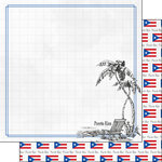 Scrapbook Customs - Adventure Collection - 12 x 12 Double Sided Paper - Puerto Rico Beach