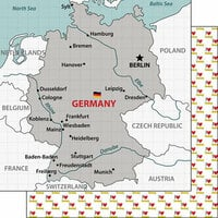 Scrapbook Customs - Adventure Collection - 12 x 12 Double Sided Paper - Germany Map
