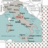 Scrapbook Customs - Adventure Collection - 12 x 12 Double Sided Paper - Italy Map