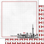 Scrapbook Customs - Adventure Collection - 12 x 12 Double Sided Paper - Toronto Canada