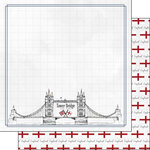 Scrapbook Customs - Adventure Collection - 12 x 12 Double Sided Paper - London Tower Bridge