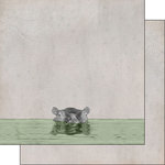 Scrapbook Customs - African Safari Collection - 12 x 12 Double Sided Paper - Hippo