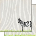 Scrapbook Customs - African Safari Collection - 12 x 12 Double Sided Paper - Zebra