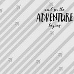 Scrapbook Customs - 12 x 12 Paper - Adventure Begins - Airplanes