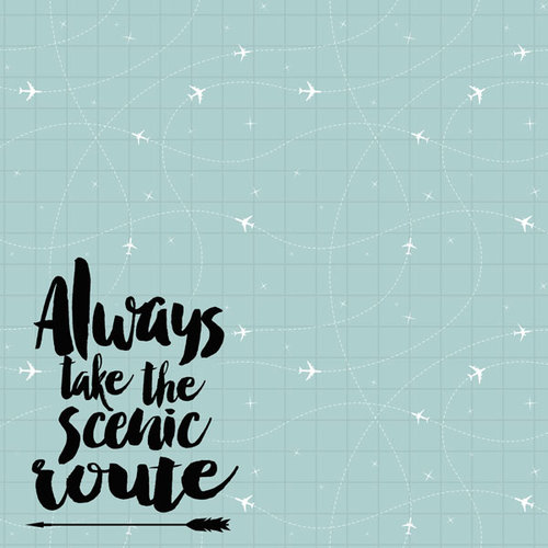 Scrapbook Customs - 12 x 12 Paper - Always Take the Scenic Route