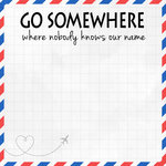 Scrapbook Customs - 12 x 12 Paper - Go Somewhere