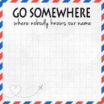 Scrapbook Customs - 12 x 12 Paper - Go Somewhere
