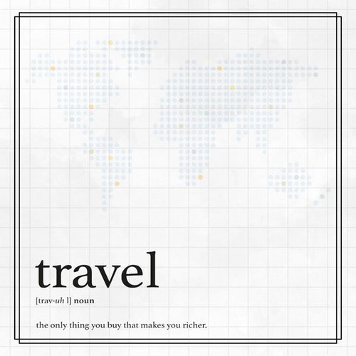 Scrapbook Customs - 12 x 12 Paper - Travel Definition Border