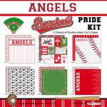 Scrapbook Customs - Baseball - 12 x 12 Paper Pack - Angels Pride