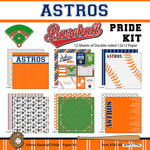 Scrapbook Customs - Baseball - 12 x 12 Paper Pack - Astros Pride