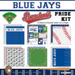 Scrapbook Customs - Baseball - 12 x 12 Paper Pack - Blue Jays Pride