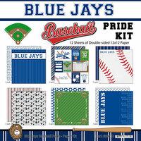 Scrapbook Customs - Baseball - 12 x 12 Paper Pack - Blue Jays Pride